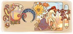 Google celebrates Alphonse Mucha's 150th birthday