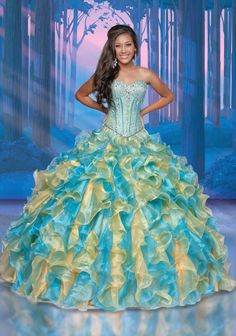 Disney Royal Ball Quinceanera Dress Pocahontas Style 47101 is made for Sweet 15 girls who want to look like a beautiful Princess on her special day. Designed by Impression Bridal, this Sweet 15 gown f