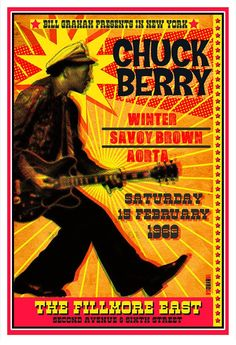 Chuck Berry 1969 New York Source by The post Chuck Berry 1969 New York appeared first on Pin This. Rock Posters, Band Posters, Event Posters, Vintage Concert Posters, Vintage Posters, Barber Shop Vintage, Vintage Bar, Death Metal, Mundo Hippie