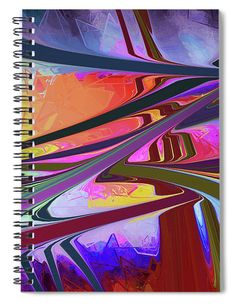 """This x spiral notebook features the artwork """"Bridges of ideas communicating to the world"""" by Daniel Ghioldi on the cover and includes 120 lined pages for your notes and greatest thoughts. Spiral Notebook Covers, Spiral Notebooks, Notebooks For Sale, Blue Green, Yellow, Lined Page, Bridges, Fine Art America, Countries"""