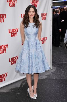 f85cd22597 Emmy Rossum wearing the Tile Jacquard Dress from our Temperley London Spring Summer  2013 Collection to the Lucky Guy premiere in New York