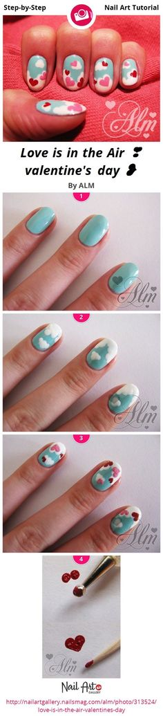 valentines day nail tutorials | valentine's day by ALM - Nail Art Gallery Step-by-Step Tutorials ...