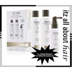 Nioxin Hair System Kit 3 is a three-step restorative system to bring vitality and volume back to your fine and chemically enhanced, normal to thin looking hair. BioAmp™ adds thickness and strength. Nioxin Hair, Nioxin System, Jon Renau, Hair System, Quality Wigs, Coloured Hair, Moroccan Oil, Kit, Wet Hair