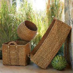 baskets for storage, laundry, blankets, pillows...