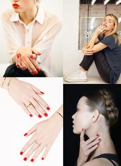 Summer Red Nails | FrenchByDesign.