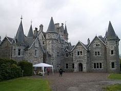 "The Scottish Highlands where series like ""Monarch of the Glen"" were filmed.  Here is Ardverikie House posing as Glenbogle Castle for the series."