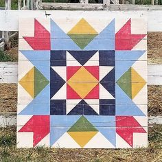Image of Ole' Schoolhouse Barn QuiltYou can find Barn quilts and more on our website.Image of Ole' Schoolhouse Barn Quilt Barn Quilt Designs, Barn Quilt Patterns, Quilting Designs, Star Quilts, Mini Quilts, Quilt Blocks, Scrappy Quilts, Texas Star, Vintage Star