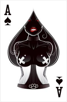ace of spades - Are these real cards? Bd Art, Illustration Art, Illustrations, Deck Of Cards, Black Art, Fantasy Art, Cool Art, Awesome Art, Art Drawings