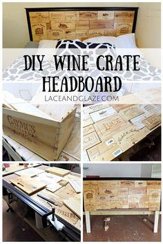 diy wine crate headboard