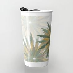 Leafy Wreaths Travel Mug by weivy Drink Containers, Pattern Flower, Presents For Friends, Good Cause, Ikea Hack, Beach Towel, Travel Mug, Wreaths, Gift Ideas