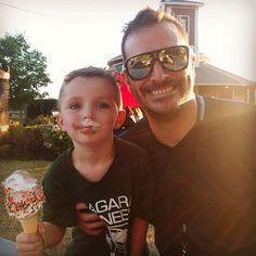 This little guy! I love summer. #family #icecream #lewistonny