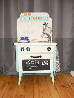 DIY tutorial: Make a Toy Kitchen From an Old Nightstand  via DaWanda.com