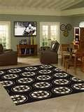 Image detail for -Anglo Oriental Boston Bruins 5'4 x 7'8 Repeat Rug