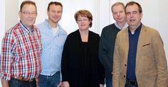 Onze top 5, vlnr. Gijs Pansier (5), Marc Mabelis (3), Karin Kubiak (4), Robin Hoogendijk (2) en Klaas van der Werf (1).