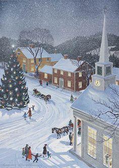 """Snowfall in the Village"" by Charlotte Joan Sternberg"