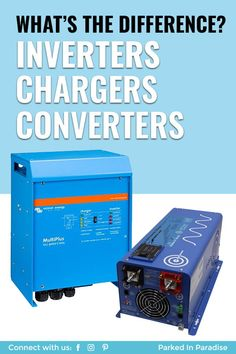 Learn how to charge your battery bank and use AC electronics off-grid when living in an RV. Advice on the best smart charger or inverter/charger to upgrade. Battery Generator, Camping Generator, Van Conversion Plans, Rv Battery, Off Grid Batteries, Van Storage, Drilling Tools, Solar Inverter, Diy Rv