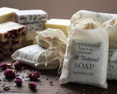 Geranium Patchouli Lavender Handmade Soap. All by SopranoLabs