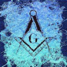 Painting - Freemason, Mason, Masonic Symbolism by Esoterica Art Agency , Masonic Art, Masonic Symbols, Freemasonry, Deathly Hallows Tattoo, Occult, Tattoos For Guys, Mystery, Wall Art, Painting