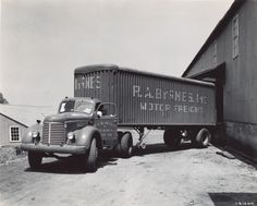 Old International Trucks | ... Images - International KR-11 Truck with Semi-Trailer, WHi-88386