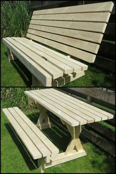 Folding bench picnic table woodworking plan with full size templates build a 2 in 1 picnic table and bench watchthetrailerfo