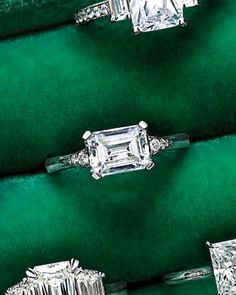 Horizontal-Set Emerald-Cut Diamond Engagement Ring