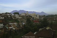 view to putri tidur mount, beautiful look for a trip in Malang City.