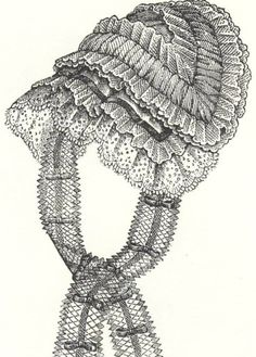 1850s indoor cap civil war era fashion