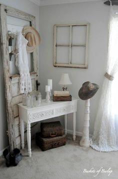 Love the old door and window frames.