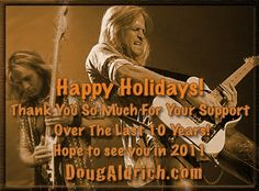 Doug Aldrich com - Happy Holidays and 10th anniversary