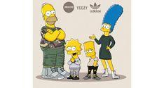 The Simpsons x Yeezy Boost Illustrated by Olga Wójcik