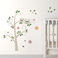 Decoração de quarto de bebê | Adesivos Corujinhas - MimoInfantil. http://www.mimoinfantil.com.br/decoracoes-para-quarto-bebe-adesivos-corujinhas-mimo-infantil/