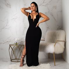 "d745cbed434b Diva Boutique on Instagram: ""Kim K inspired maxi is here 💣 Just stunnin'  😍 . . www.DivaBoutiqueOnline.com . . . Search: Night out open back ."