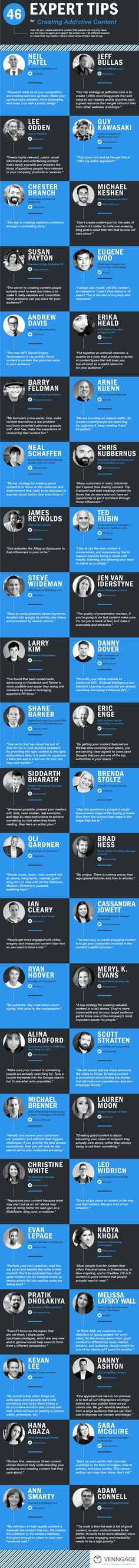10 Tips for Creating Addictive Content - #infographic