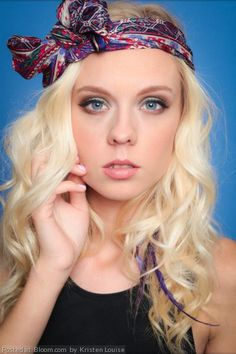 By+Kristen+Louise.+#soft+#boho+#chic+#bow+#makeup+#curlyhair+@BLOOM.COM