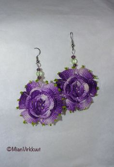 Earrings from Recycled Crochet Lace