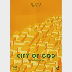 """#throwback """"City of God"""", by Fernando Meirelles - movie poster I've made for the movie's screening by Unibz Movie Night. #2015 #CityofGod #movie #movienight #poster #graphicdesign #graphic #design #orange #favelas"""