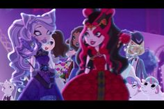 Ever After High Thronecoming Kitty Cheshire and Lizzie Hearts Lizzie Hearts, Queen Of Hearts, Old Disney, Disney Fun, Barbie And Her Sisters, Raven Queen, Dc Super Hero Girls, Dragon Games, Bratz Doll