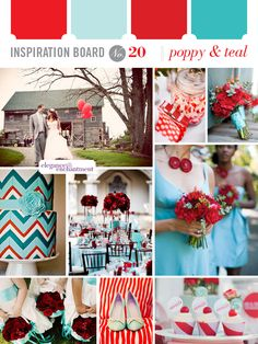 Inspiration Board #20: Poppy & Teal | Elegance & Enchantment