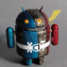 2011-5-22 ; android mini collectible ; D.I.Y.BLANK ; customized ; tribute for Mr.Shotaro Ishinomori