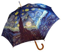 Van Gogh Starry Night Umbrella with Free Shipping!  Find it at: http://www.artistgifts.com/la-salva-umbrellas/van-gogh-starry-night-umbrella-10164.html