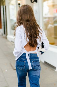 OUTFIT: COZY CUDDLE BAG & A BACKLESS SHIRT
