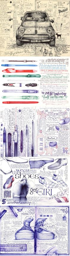 Andrea Joseph sketchbook pages Arte Sketchbook, Sketchbook Pages, Sketchbook Assignments, Sketch Journal, Art Journal Pages, Art Journals, Drawing Journal, Drawing Sketches, Drawings