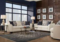 Deca Drive Cream 5 Pc Living Room-Living Room Sets (Beige)