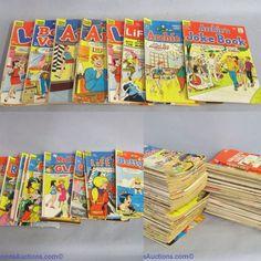 Vintage comic books. Archie, Betty and Veronica, Life, Jughead, etc. Bids close Thurs, 10 Nov from 11am ET. http://bid.cannonsauctions.com/cgi-bin/mnlist.cgi?redbird80/1186