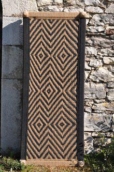 Charpoy naturel et noir pieds tournés 180X75CM/lit indien tressé corde Black Daybed, Rope Braid, Aix En Provence, Banquette, Montpellier, Cotton Rope, Lounge Areas, Winter Garden, Bordeaux