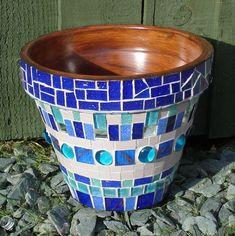 Hand crafted glass and ceramic mosaics, muni's mosaics, mosaic art, peterborough Mosaic Planters, Mosaic Garden Art, Mosaic Tile Art, Mosaic Vase, Mosaic Flower Pots, Mosaic Artwork, Mosaic Diy, Mosaic Crafts, Mosaic Projects