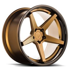 Ferrada - Matte Bronze w/ Gloss Black Lip - Wheel Warehouse Rims For Cars, Rims And Tires, Wheels And Tires, Car Wheels, Black Chrome Wheels, Solar Car, Car Parts And Accessories, Auto Spare Parts, Black Lips