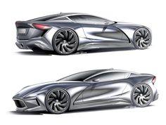 Car renderings by Alexander Opanasenko at Coroflot.com