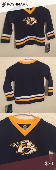 FREE SHIPPING NHL Predators Hockey Jersey 4T NHL Predators Hockey Jersey size 4 Toddler Shirts & Tops