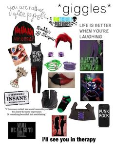 Designer Clothes, Shoes & Bags for Women Harley Quinns Daughter, Teenage Halloween Costumes, Cool Outfits, Fashion Outfits, Witch Outfit, Fandom Outfits, Joker And Harley Quinn, Gotham City, David Yurman